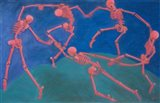 The (Skelly) Dance Art Print