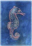 Orange Seahorse Art Print