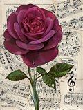 Vintage Rose Background 1 Art Print