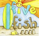 Five Fish Compliment Art Print