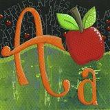 A for Apple Art Print