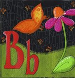 B is for Butterfly Art Print