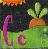 C for Carrots Art Print