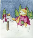 Holiday Mail Art Print