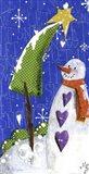 Snow Letters Art Print