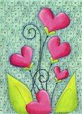 Heart Bouquet Art Print