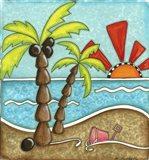 Beach Horizon Art Print