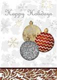 Fancy Happy Holidays Art Print