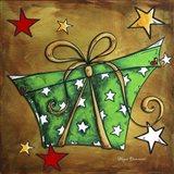 Green Stars Present Art Print