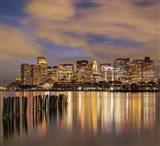 Dusk over Boston Harbor Art Print