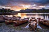 Sunset over Derwent Water Art Print