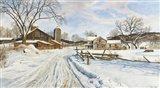 Mid-January Farmscape Art Print