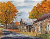 October Country Drive Art Print