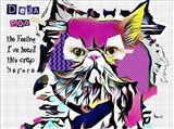 Deja Poo Cat Art Print
