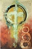 Psalm Chapter 23 Verse 1-4 Art Print