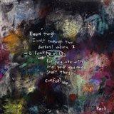 Psalm Chapter 23 Verse 4 Art Print