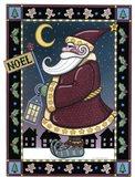 Apple Santa Noel Art Print