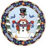 Apple Snowman Art Print
