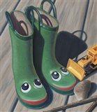 Apple Frog Boots Art Print