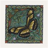 Apple Butterfly Tile Art Print