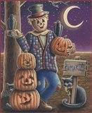 Apple Scarecrow Art Print