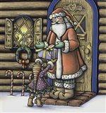 Apple Santa Art Print