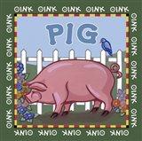 Apple Pig Art Print