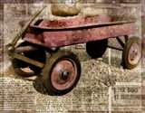 Red Wagon Art Print