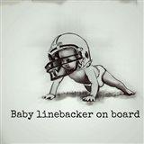 Baby Linebacker Art Print