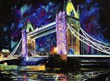 London Tower Bridge at Night Art Print