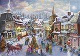 Victorian Christmas Village Art Print