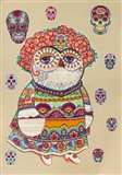Day of Dead Owl Art Print