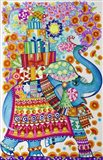 Christmas Elephant Party Art Print