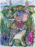 Swinging Elephant 2 Art Print