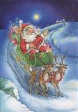 Here Comes Santa Clause Art Print