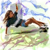 Woman Skateboarder Art Print
