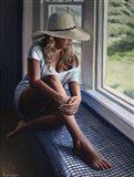 Alli's Hat Art Print
