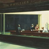 Nighthawks Detail Art Print