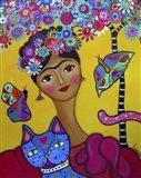 Brigit's Frida And Her Cat Art Print