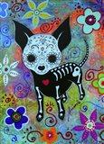 Chihuahua Dog Black Face Al Art Print