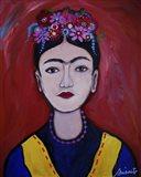 Frida Adolescente Art Print