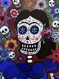 Lady Frida In Blue Art Print