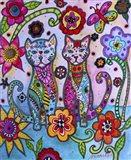 Talavera Cats Art Print