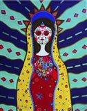 Virgin Guadalupe Dia De Los Muertos Art Print