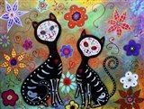 Dos Los Gatos Art Print