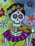 Frida Playing Violin Art Print