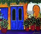 Mexican Blue Door Art Print