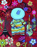 Resting Mariachi Art Print