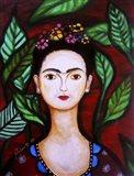 Serene Frida Art Print