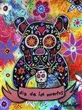 Dia De Los Muertos Bulldog Art Print
